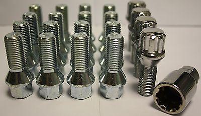 M14X1.5 TAPERED ALLOY WHEEL BOLTS & LOCKING BOLTS FIT MERCEDES ML W163 W164