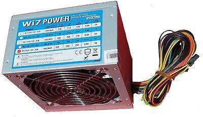 450W Netzteil PSU Power Supply PC ATX Computer AMD INTEL 120mm leiser Lüfter