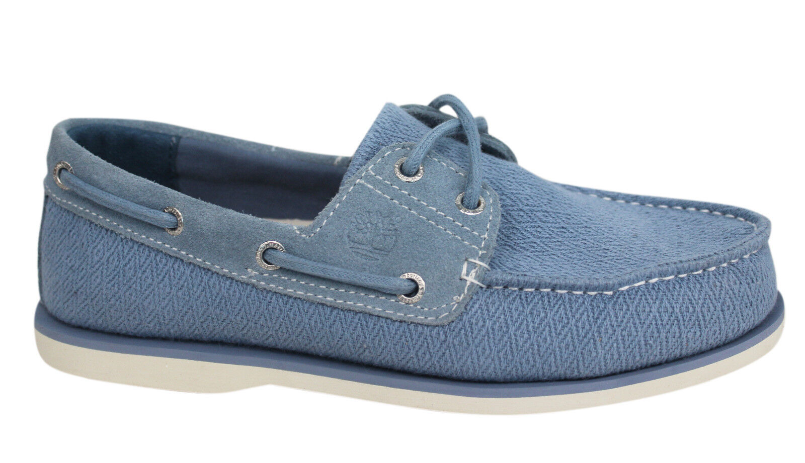Details about Timberland earthkeepers men lace up leather blue fabric boat shoe show original title