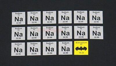 NA NA BATMAN-Periodic Table Chemistry Sodium Science DC Comics T shirt Size S-3X (Batman Table)