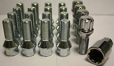 M14X1.5 TAPERED ALLOY WHEEL BOLTS + LOCKING BOLTS FIT MERCEDES MCLASS ML63AMG