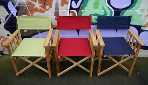 New Timber Directors Chairs Folding Outdoor Dining Furniture Melbourne CBD Melbourne City Preview