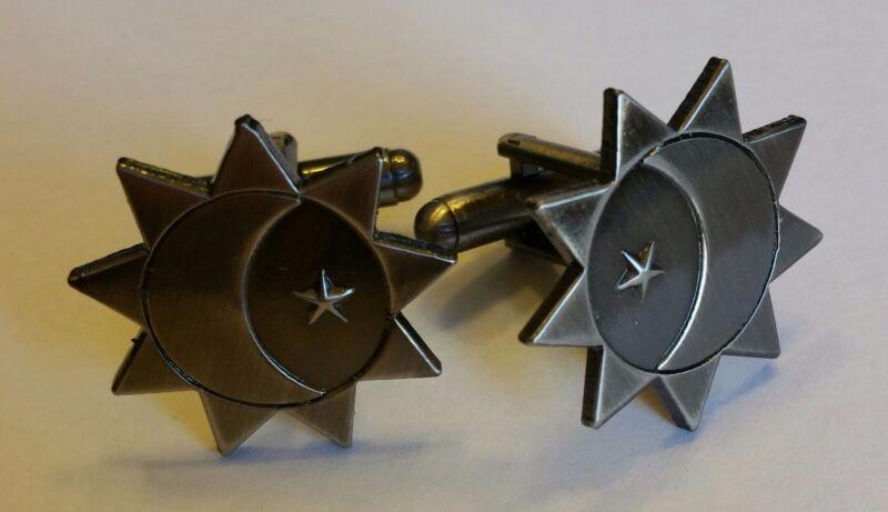 s LDS Mormon THREE DEGREES OF GLORY Antique Nickel Cuff Link Set