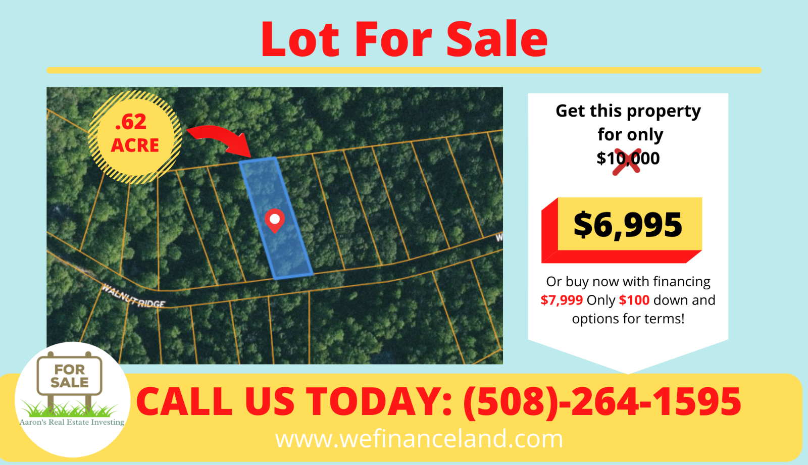 .62 Ac Lot In Walnut Mountain Subdivision Valued At 11k Selling For Only 8k  - $100.00