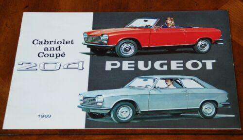 Peugeot 204 Coupe & Cabriolet sales brochure Prospekt, 1969
