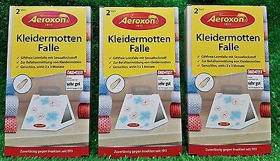 (2,18€/Stück) 3x 2-er Pack Aeroxon KLEIDERMOTTENFALLE  Kleidermotten Falle