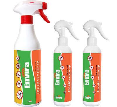 ENVIRA 500ml+2x250ml Anti Insekten Schutz Vernichter Mittel Spray bekämpfen Ex ()