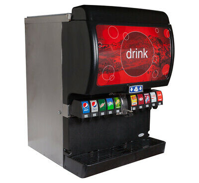 Soda Fountain 10 Flavor Ice Beverage Complete System