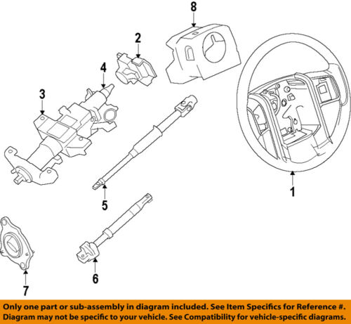 ford f 150 steering column diagram ford oem 11 14 f 150 steering column lower shaft bl3z3b676a ebay  ford oem 11 14 f 150 steering column
