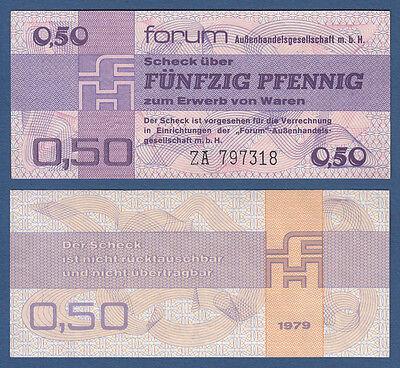 DDR 50 Pfennig Forum ERSATZNOTE ZA KASSENFRISCH  Ro.367 b