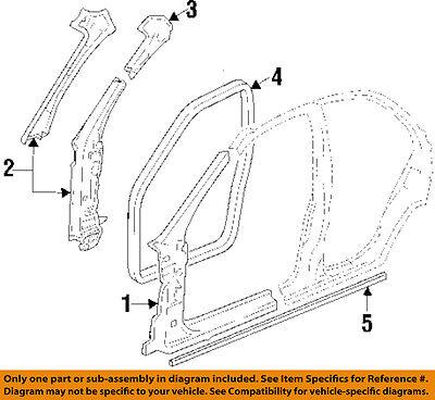 Cadillac GM OEM 97-01 Catera-Hinge Pillar Reinforcement Right 9175368