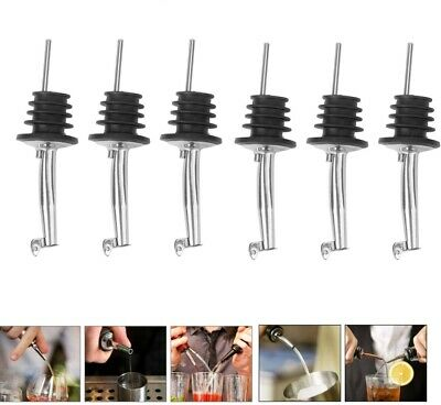 6x Portable Liquor Pourer Free Flow Wine Bottle Pour Spout Stopper Tool