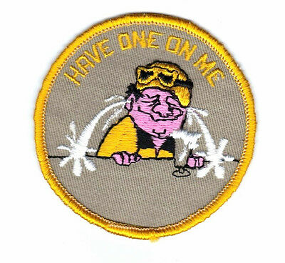 "New Vintage Embroidered  ""Have One On Me""  Snowmobile Patch  3"" x 3"""