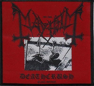 OFFICIAL LICENSED - MAYHEM - DEATHCRUSH SEW ON PATCH BLACK METAL