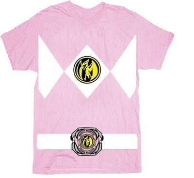 Pink Ranger Shirt (Authentic POWER RANGERS Pink Ranger Costume T-Shirt S-3XL)