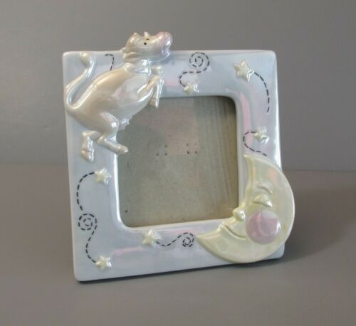 """Carr Burnes of Boston """"Cow Jumped Over the Moon"""" Porcelain Photo Frame"""