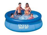 7ft wide x 2ft high Intent Easy Set Paddling Swimming Pool + Bubble Cover