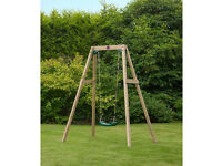 Plum Wooden Single Swing Set - New and Sealed