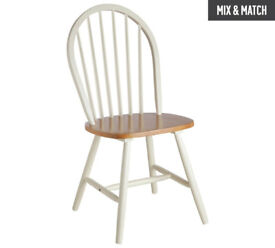 Collection Kentucky Pair of Solid Wood Chairs - Two Tone