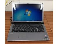 "Sony 18.4"" Screen Laptop, Vaio VGN-AW11M, Windows 7, Office 2010, 4GB RAM 250GB HDD Blueray"