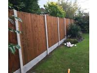 ☃️ High Quality Wooden Tanalised Garden Fence Panels