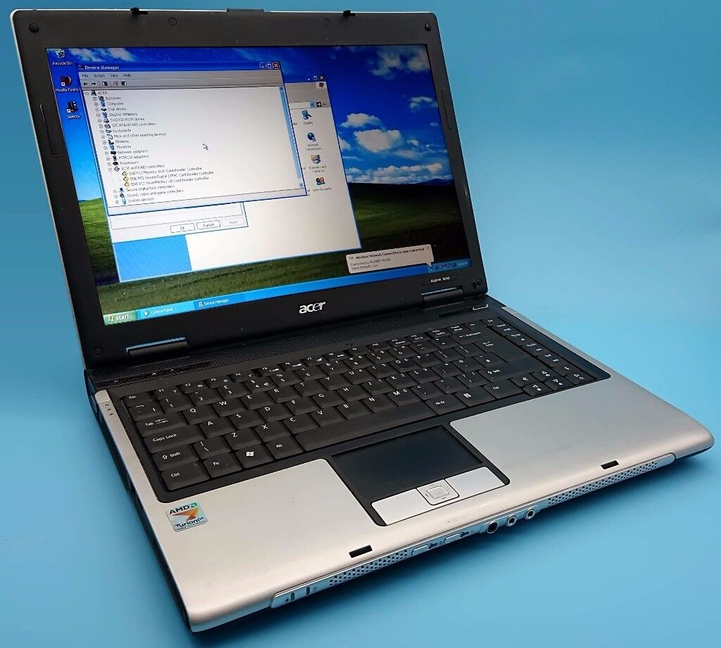 ACER Aspire 5050 Laptop, AMD Turion CPU, Win XP SP3 2017 edition, 1gb RAM, works perfect