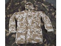 British Military Desert Issue Windproof Smock (Size Large)