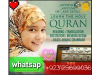 Quran classes for children and adults online via skype and whatsap 3 days free trial classes