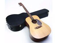 Martin USA DM Dreadnought Electro Acoustic & Martin Hard Case - LR Baggs Pickup