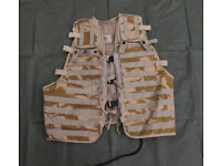 British Army Issue Molle Compatible Load Carrying Tactical Ops Vest (desert)