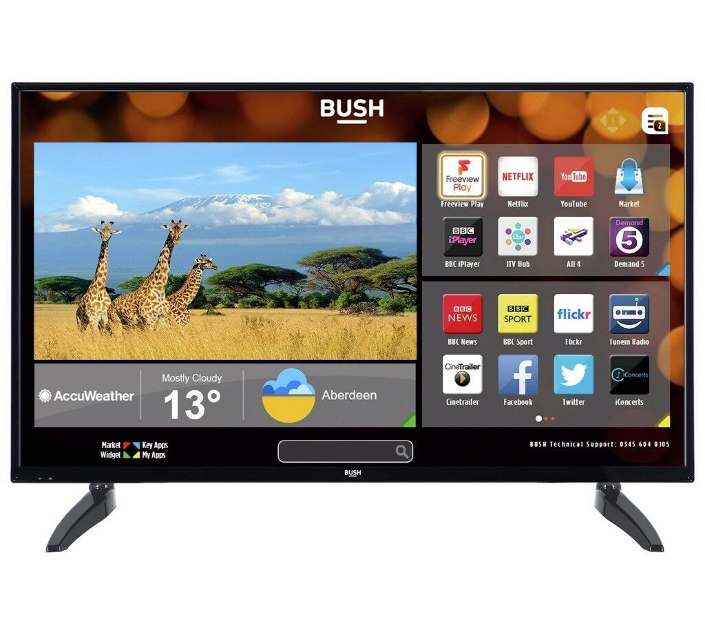 Bush 43inch Led Smart Tv With Freeview Play Current Argos Tv Model