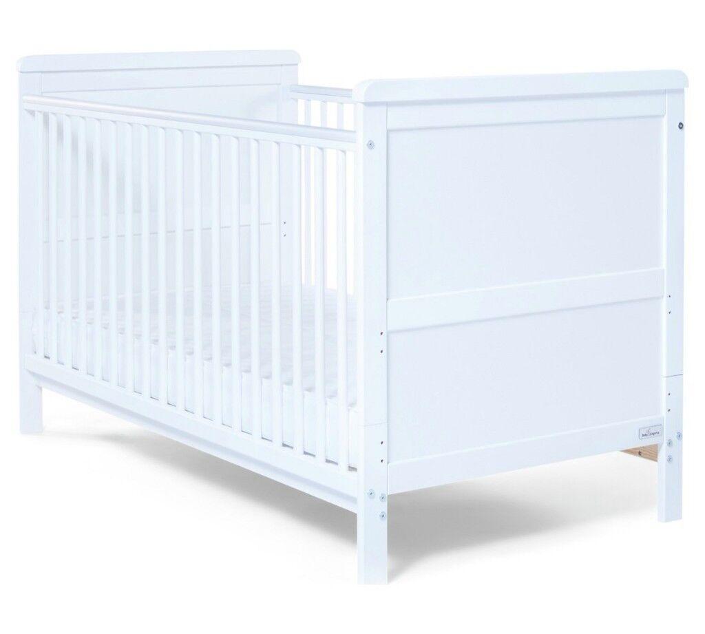 Baby Elegance Alex Cot Bed - White