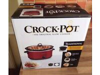 Crock-Pot Red Slow Cooker 5.7 Ltr