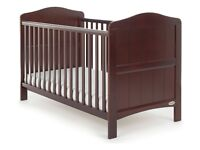 BNIB Baby Babies Obaby Branded Cot Bed In Walnut Never Been Opened From Box . Pet Smoke Free Home