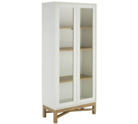 Hygena Zander Textured Display Unit - White & Oak Effect
