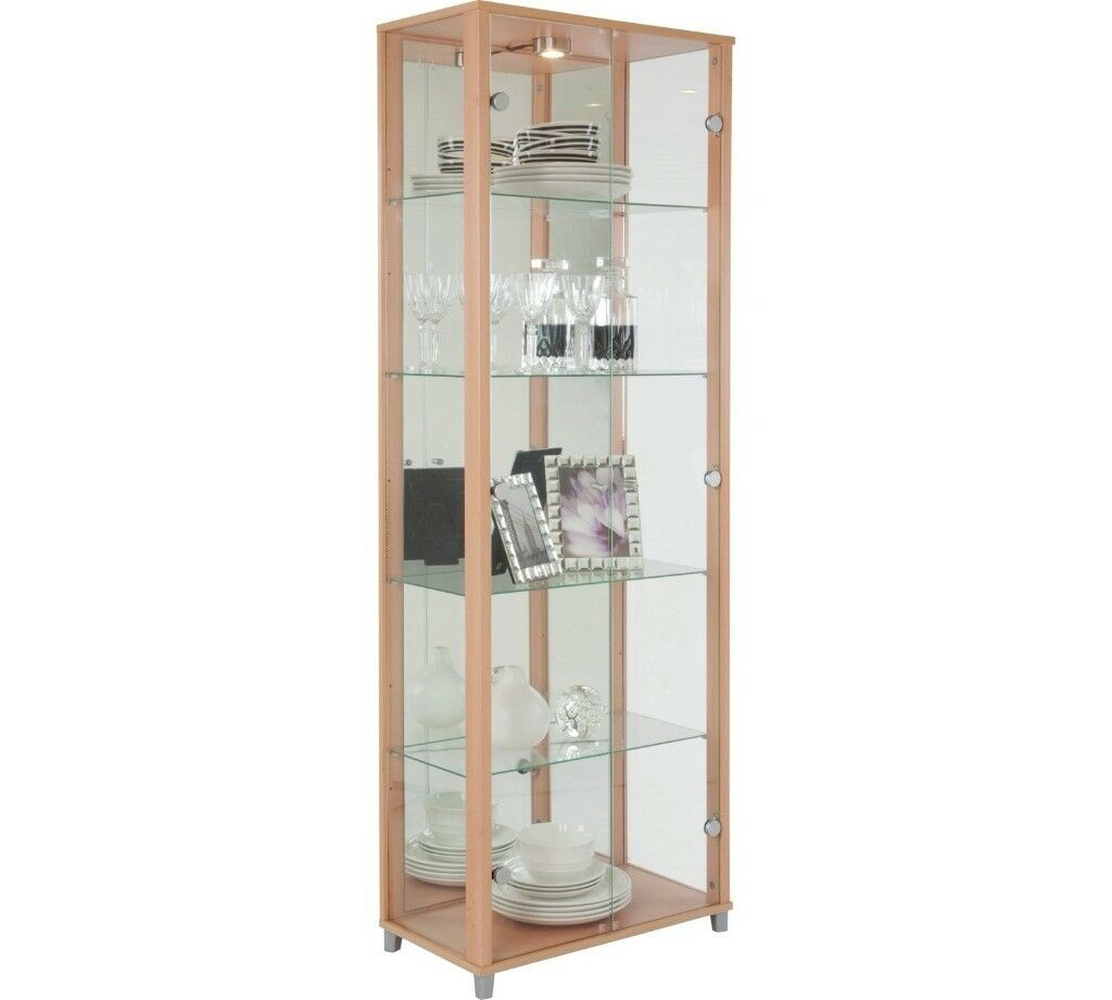 Glass Display Cabinet Beech Effect In Aberdeen Gumtree