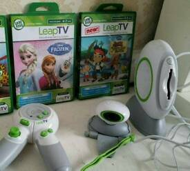 Leap TV console and 2 games