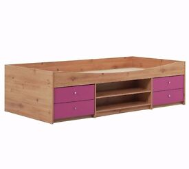 Single cabin bed with drawers