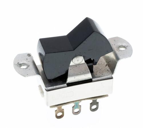 UID TV-1 Rocker Slide Switch, DPDT, Black, Panel Mount, NOS - Lot of 5