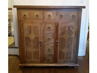 Arighi Bianchi Flagstone Sideboard with Stone Tile Inlay