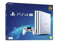 PS4 Pro Glacier White 1TB - 5x Games + Extras
