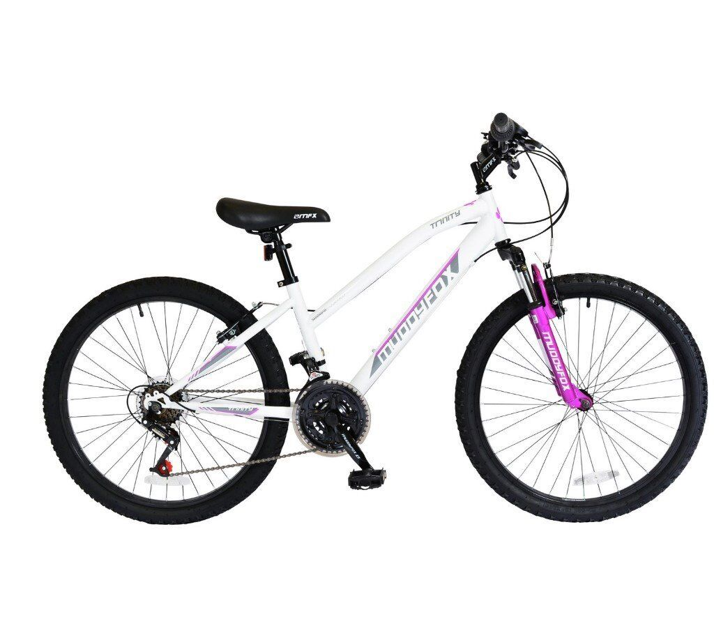Muddyfox Trinity Hardtail 24 Inch Girls Mountain Bike 18 Gears With