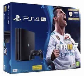 PS4 Pro 1TB Fifa 18 Bundle - New