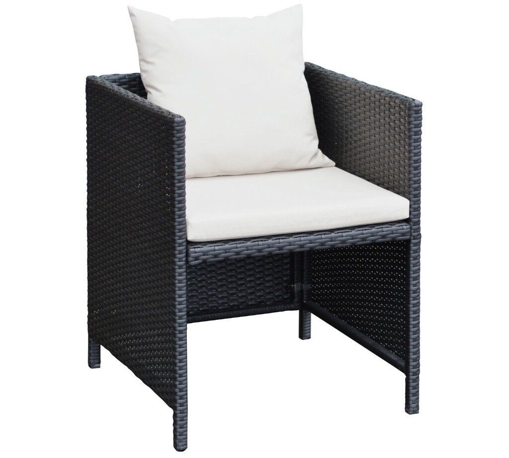 rattan effect cube 6 seater chairs outdoor garden. Black Bedroom Furniture Sets. Home Design Ideas