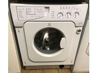 INDESIT IWDE126 INTEGRATOR WASHER & DRYER 3 MONTH WARRANTY, FREE INSTALLATION