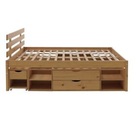 Ultimate storage double bed frame