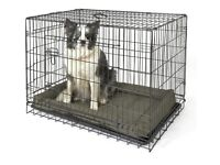 Large dog pet crate cage as new