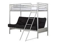 Argos Metal Bunk Bed Frame with Double Fold Down Futon