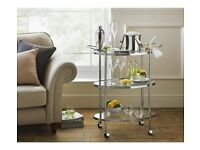 Glass Drinks Trolley