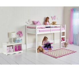 Mid Sleeper Bed White Frame + mattress - SHORTY